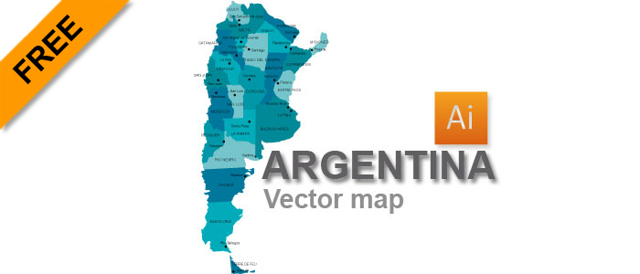 Vector Map Archives Page Of Graphicflashsources - Argentina map vector free
