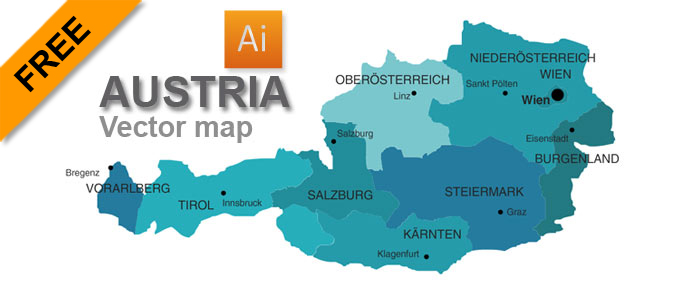 Free Vector Map Of Austria Graphicflashsources - Austria on world map