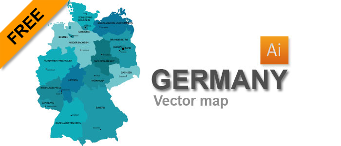 Free Vector Map of Germany