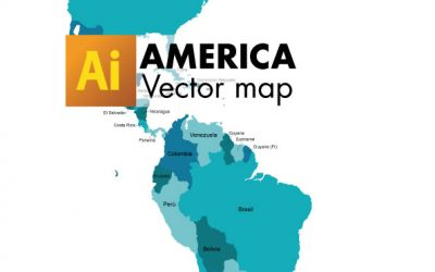 Free Vector Map of America