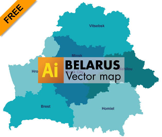 Free Vector Map of Belarus