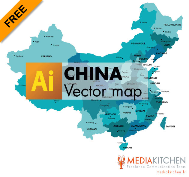 Free vector Map of China