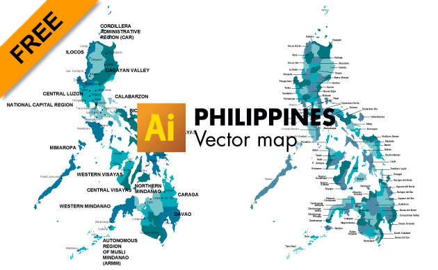 Free Philippines Vector Map