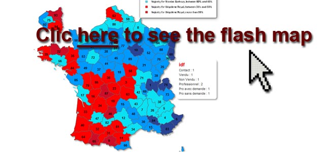 departments of france map. this France flash map are: