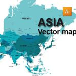 Free Asia Vector Map