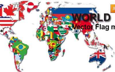 Free Vector Flag World map