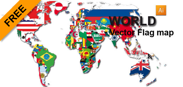 Free vector flag world map graphic flash sources free vector flag world map gumiabroncs Images