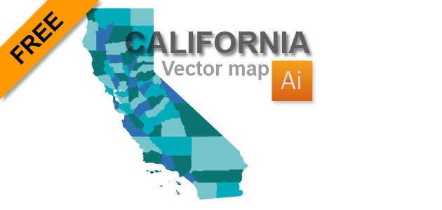 Free California Vector Map   Graphic flash sources