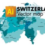 Free vector map of switzerland