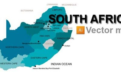 Free South Africa Vector Map