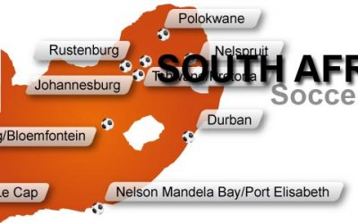 Free South Africa Soccer Worldchampion Vector Map